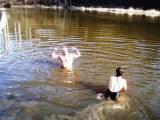 1. jarní koupání - odemykání řeky (loděnice Bechyně)