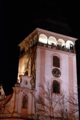 troubení z věže kostela sv. Matěje v Bechyni